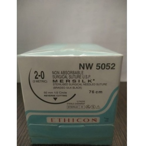 Ethicon - Mersilk ( Black Braided Silk With Needle Suture ) (Nw5052)