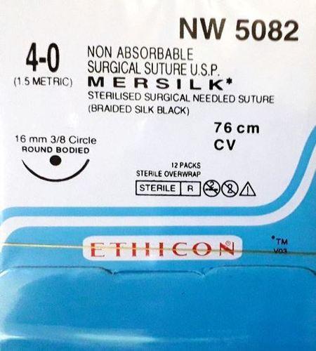 Ethicon - Mersilk ( Black Braided Silk With Needle Suture ) (Nw5082)