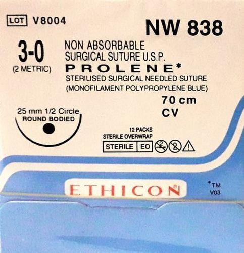 Ethicon - Prolene(Polypropylene) (NW838)