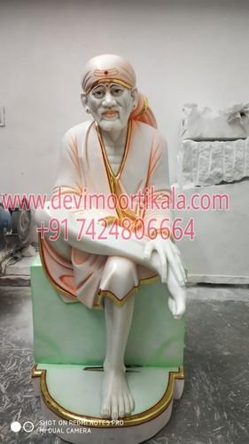 Sirdi Sai Baba Marble Sitting Statue