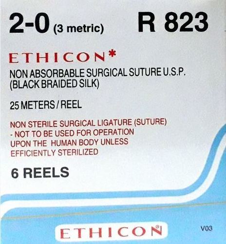 Ethicon Black Braided Silk Reels - Non Sterile (R823)