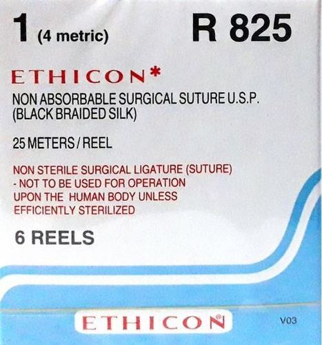 Ethicon Black Braided Silk Reels - Non Sterile (R825)
