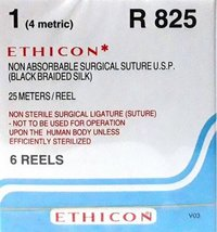 Ethicon Black Braided Silk Reels - Non Sterile (R825)