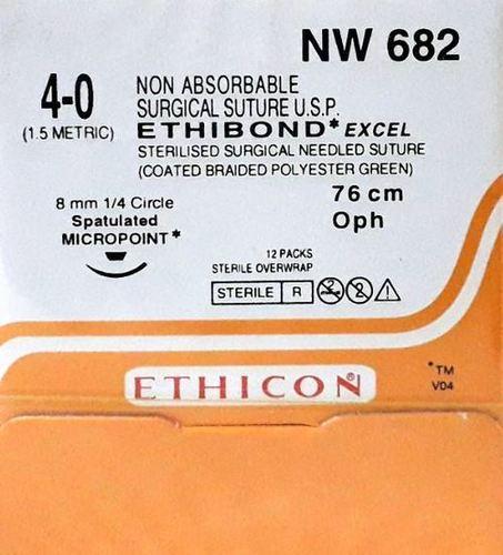 Ethicon Ethibond Excel (Polybutylate Coated Braided Polyester) (Nw682)