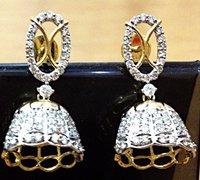 Desginer Diamond Jhumkas Earring
