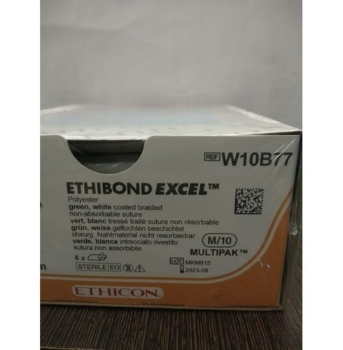 Ethicon Ethibond Excel (Polybutylate Coated Braided Polyester) (W10B77)