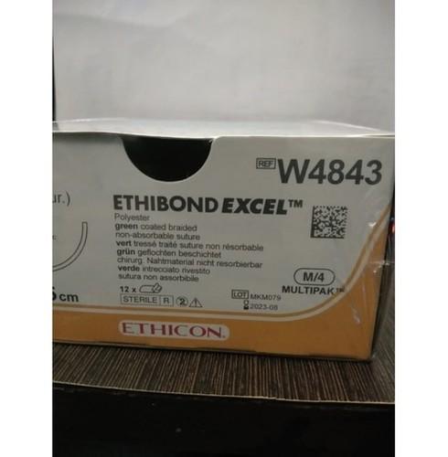 Ethicon Ethibond Excel (Polybutylate Coated Braided Polyester) (W4843)