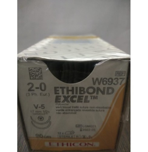 Ethicon Ethibond Excel (Polybutylate Coated Braided Polyester) (W6937)