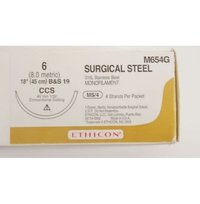 Ethicon Ethisteel (Monofilament Stainless Steel) (M654G)