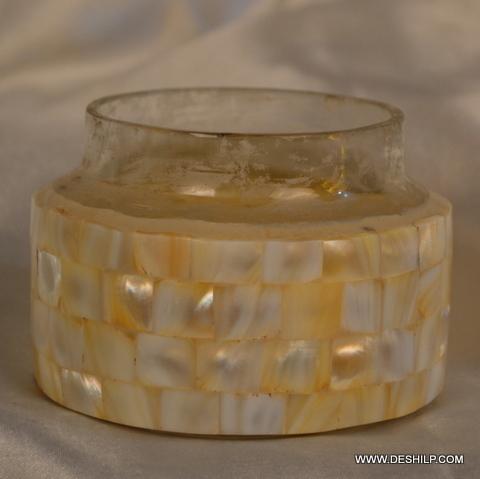 Antique Glass Seap Candle Holder