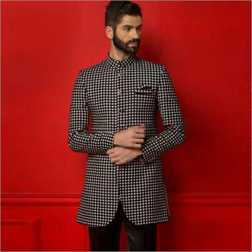 Mens Check Indo Western Jacket