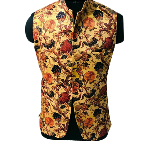 Mens Sleeveless Printed Koti