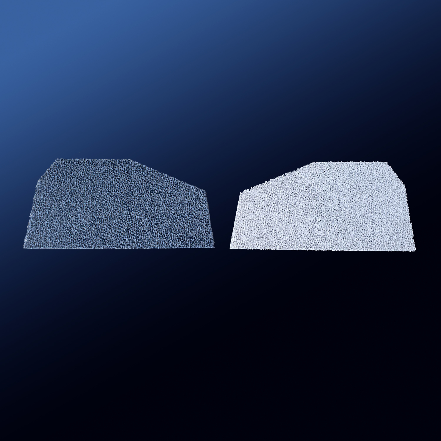 Irregular Silicon Carbide Ceramic Foam Filter