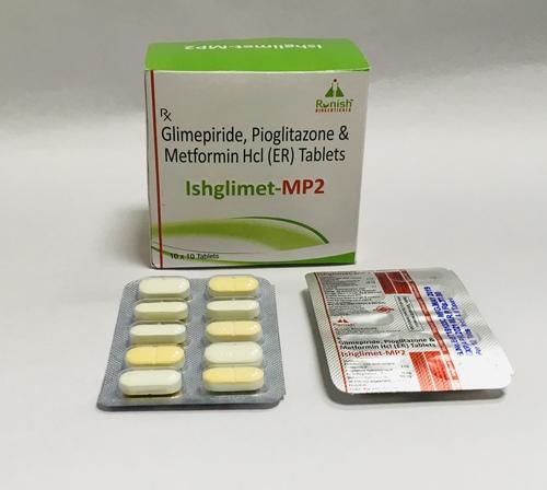 GLIMEPIRIDE, PIOGLITAZONE & METFORMIN HCL (ER) TAB