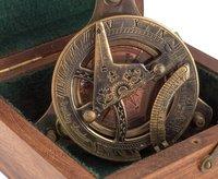 Sundial Compass – Triangle Adjustable Screw Base, Brass Antique Finish