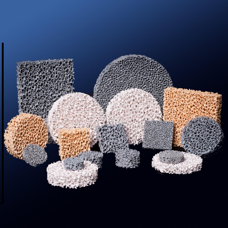 Ceramic Foam Filter Al2O3 Sic Zro2 for Foundry Casting