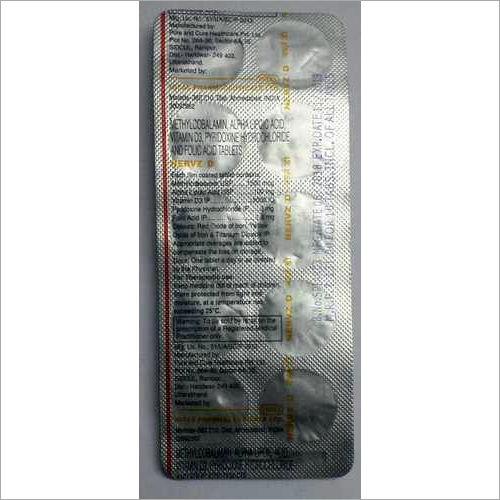 methylcobalamin alpha lipoic acid vitamin d3 pyridoxine hydrocloride folic acid tablets