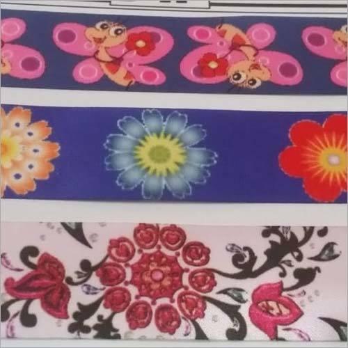 Floral Printed Ribbon Tape