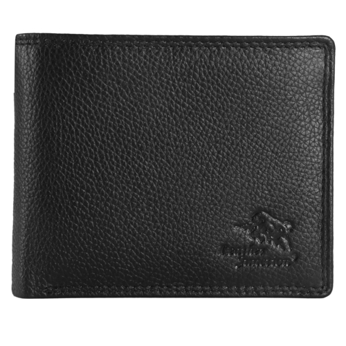 Black Mens Pu Leather Wallet