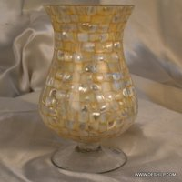 SEAP GLASS HURRICANE CANDLE HOLDER