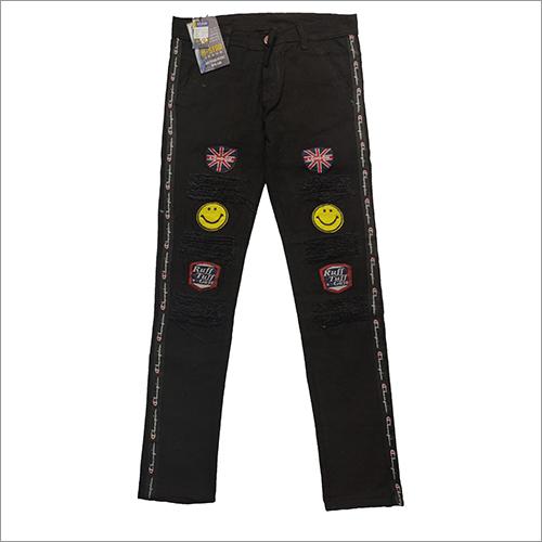 Boys Black Fancy Jeans