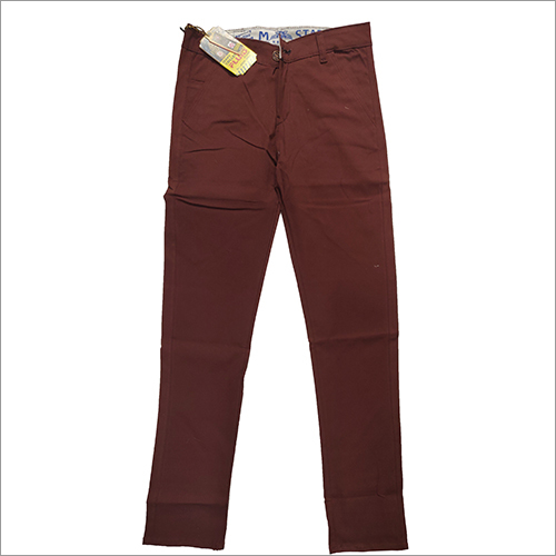 Mens Maroon Trouser