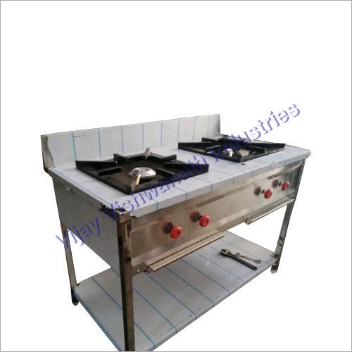 Two Burner Commercial Gas Stove