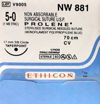Ethicon Prolene(Polypropylene) Suture (NW881)