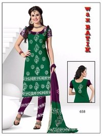 Computer Work With Bandhej Salwar And Dupatta Material