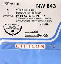Ethicon Prolene(Polypropylene) Suture NW843