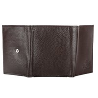 Brown Trifold Leather Wallet For Men