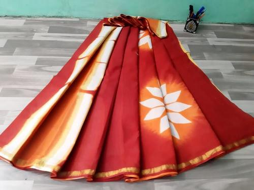 Pure Cotton Malmal Hand Block Print Saree