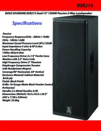Bose Sourdine BSR215 Dual 15