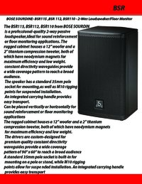 Bose Sourdine BSR115-112-110 2 Way Loudspeaker