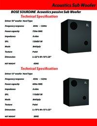 Bose Sourdine Acoustics Passive Sub Woofer