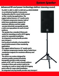 Advanced BSR & Power Technology Deliver Stunning Sound
