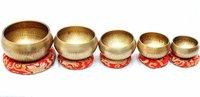 Tibetan Hand Beaten Singing Bowl - Set of 5