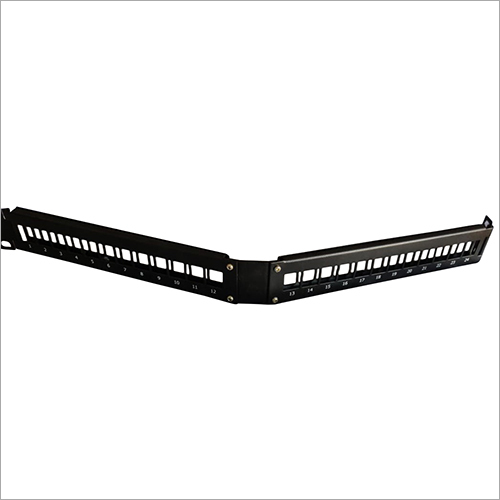 24 Port Angled Blank Patch Panel