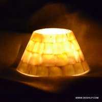 Decorated Seap Glass Candle Holder