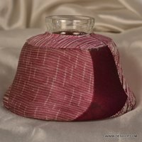 DECORATED CLOTH WITH GLASS CANDLE HOLDER