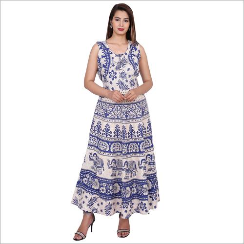 Handmade Printed  Maxi Dress