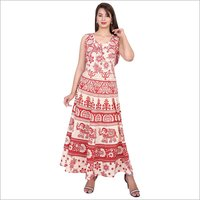 Jaipuri Printed Maxi Dress