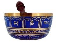 Tibetan Singing Bowl- 6 Inches, Straight-Sided Singing Bowl