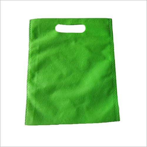 D Cut Green Non Woven Bag