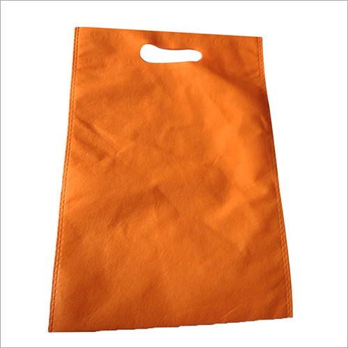 D Cut Orange Non Woven Bag