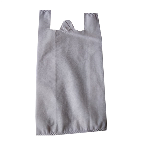 W Cut Non Woven White Bag