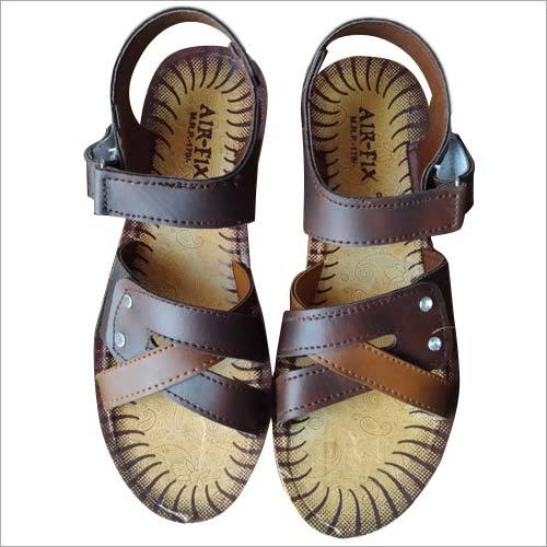 Ladies Velcro PU Leather Sandal