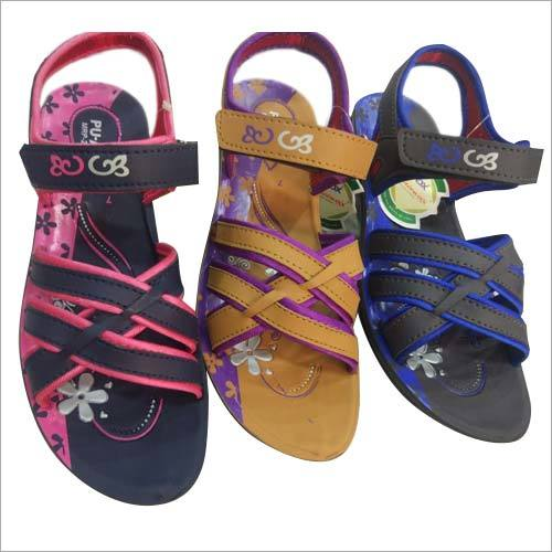 Girls Velcro PU Sandal
