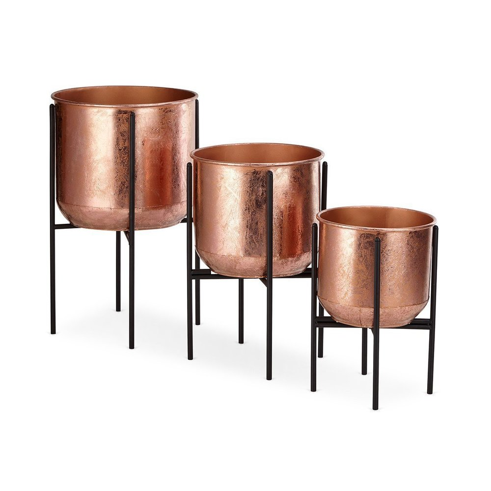 Planters with Iron Foldable Stands