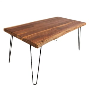Wrought Iron Wooden Dining Table